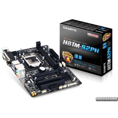 Материнская плата Gigabyte GA-H81M-S2PH (s1150, Intel H81, PCI-E