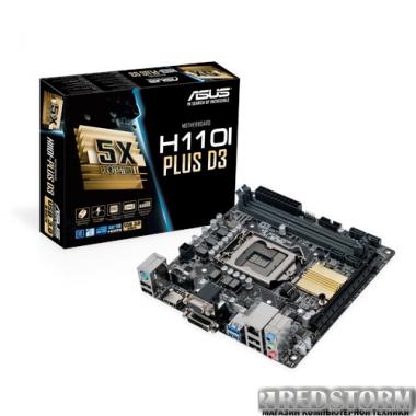 Материнская плата Asus H110I-PLUS D3 (s1151, Intel H110, PCI-Ex16)