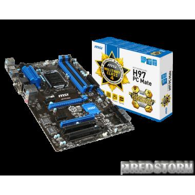 Материнская плата MSI H97 PC Mate (s1150, Intel H97, PCI-Ex16)