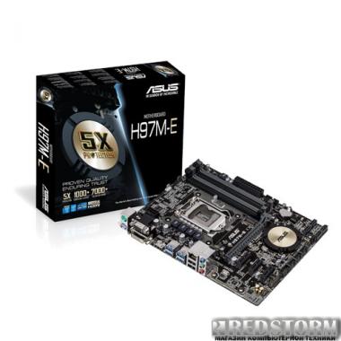 Материнская плата Asus H97M-E (s1150, Intel H97, PCI-Ex16)