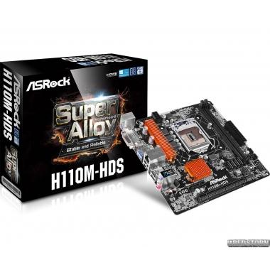 Материнская плата ASRock H110M-HDS (s1151, Intel H110, PCI-Ex16)