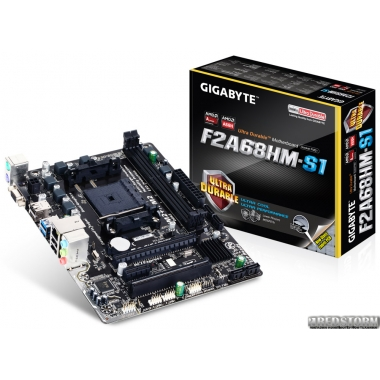 Материнская плата Gigabyte GA-F2A68HM-S1 (sFM2/FM2+, AMD A68H, PCI-Ex16)