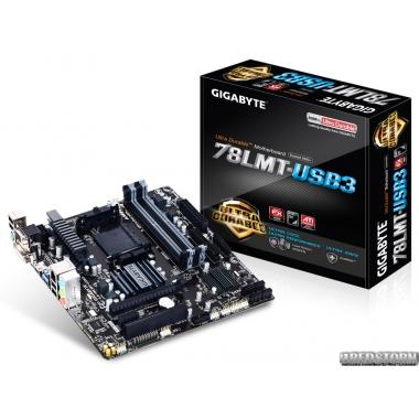 Материнская плата Gigabyte GA-78LMT-USB3 (sAM3+, AMD 760G, PCI-Ex16)