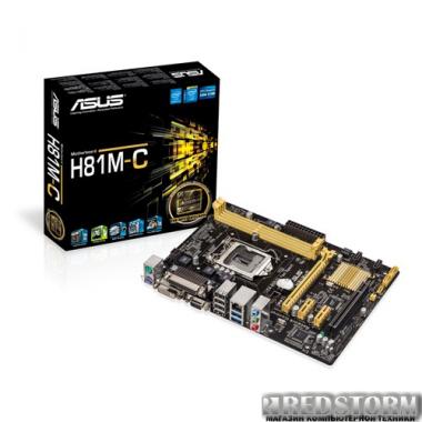 Материнская плата Asus H81M-C (s1150, Intel H81, PCI-Ex16)
