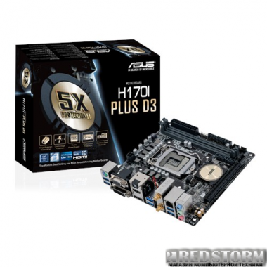 Материнская плата Asus H170I-Plus D3 (s1151, Intel H170, PCI-Ex1