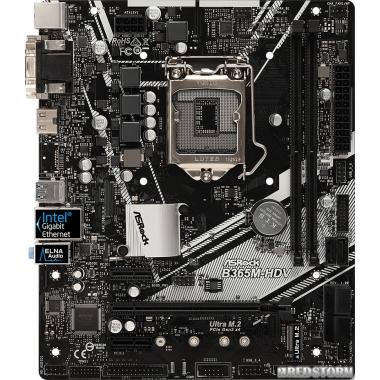 Материнская плата ASRock B365M-HDV (s1151, Intel B365, PCI-Ex16)