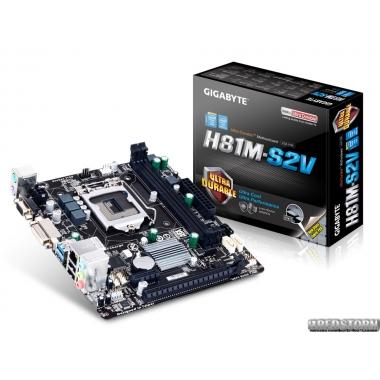 Материнская плата Gigabyte GA-H81M-S2V (s1150, Intel H81, PCI-Ex16)