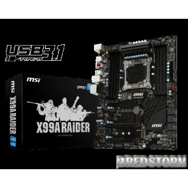 Материнская плата MSI X99A Raider (s2011-3, Intel X99, PCI-E 3.0x16)