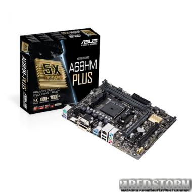 Материнская плата Asus A68HM-PLUS (sFM2/FM2+, AMD A68H, PCI-Ex16)