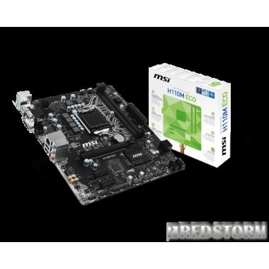 Материнская плата MSI H110M ECO (s1151, Intel H110, PCI-Ex16)