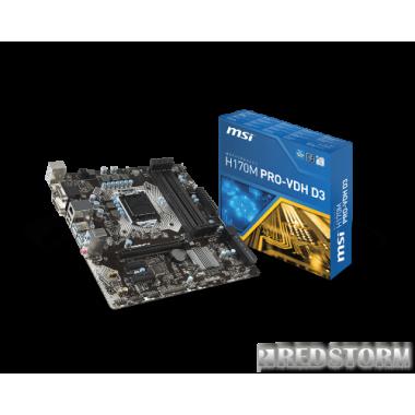 Материнская плата MSI H170M PRO-VDH D3 (s1151, Intel H170, PCI-E
