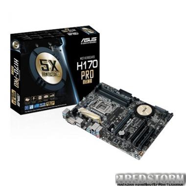 Материнская плата Asus H170-Pro/USB 3.1 (s1151, Intel H170, PCI-Ex16)