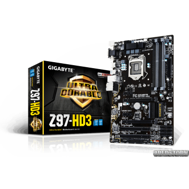 Материнская плата Gigabyte GA-Z97-HD3 (s1150, Intel Z97, PCI-Ex16)