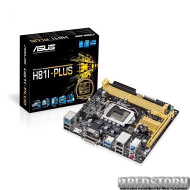 Материнская плата Asus H81I-Plus (s1150, Intel H81, PCI-Ex16)