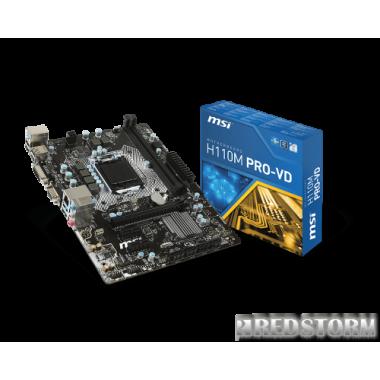 Материнская плата MSI H110M PRO-VD (s1151, Intel H110, PCI-Ex16)