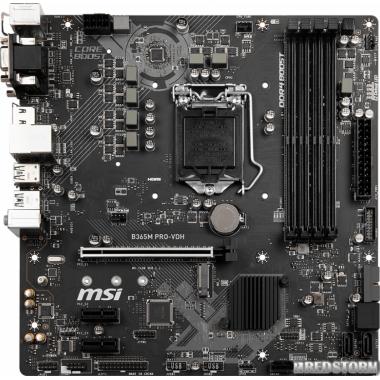Материнская плата MSI B365M PRO-VDH (s1151, Intel B365, PCI-Ex16)