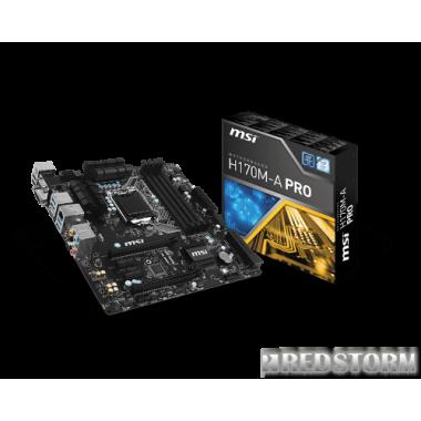 Материнская плата MSI H170M-A PRO (s1151, Intel H170, PCI-E x16)