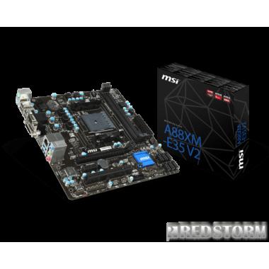 Материнская плата MSI A88XM-E35 V2 (FM2+, AMD A88X, PCI-Ex16)