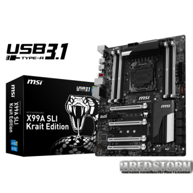 Материнская плата MSI X99A SLI Krait Edition (s2011-3, Intel X99, PCI-E 3.0x16)