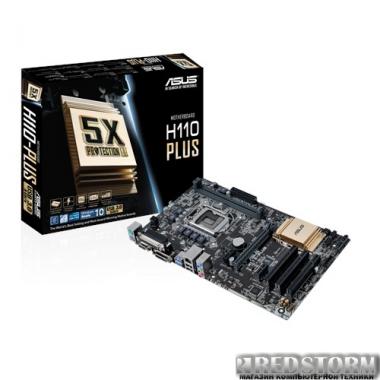 Материнская плата Asus H110-Plus (s1151, Intel H110, PCI-Ex16)