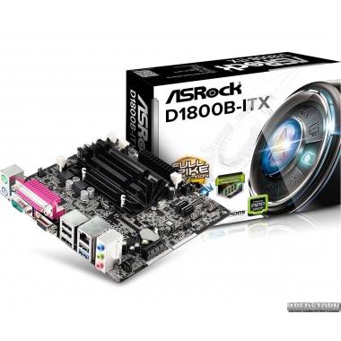 Материнская плата ASRock D1800B-ITX (Intel Dual-Core J1800, SoC, PCI-Ex1)