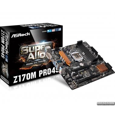 Материнская плата ASRock Z170M Pro4S (s1151, Intel Z170, PCI-Ex16)