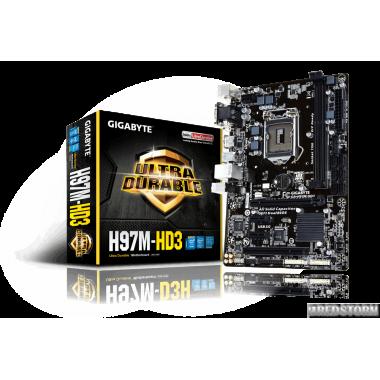 Материнская плата Gigabyte GA-H97M-HD3 (s1150, Intel H97, PCI-Ex
