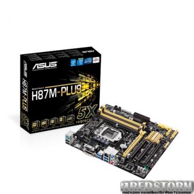 Материнская плата Материнская плата Asus H87M-Plus (s1150, Intel