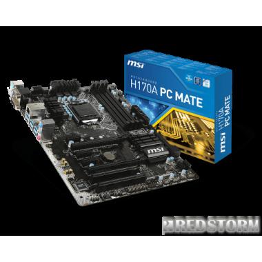 Материнская плата MSI H170A PC Mate (s1151, Intel H170, PCI-Ex16)