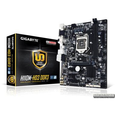 Материнская плата Gigabyte GA-H110M-HD3 DDR3 (s1151, Intel H110,