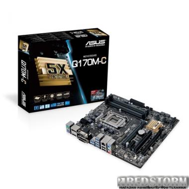 Материнская плата Asus Q170M-C (s1151, Intel Q170, PCI-Ex16)