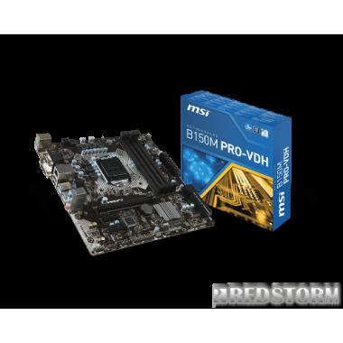 Материнская плата MSI B150M Pro-VDH (s1151, Intel B150, PCI-Ex16)