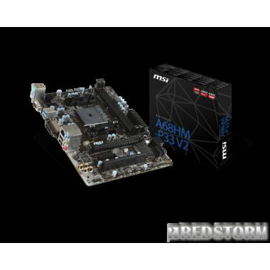 Материнская плата MSI A68HM-P33 V2 (sFM2+, AMD A68H, PCI-Ex16)
