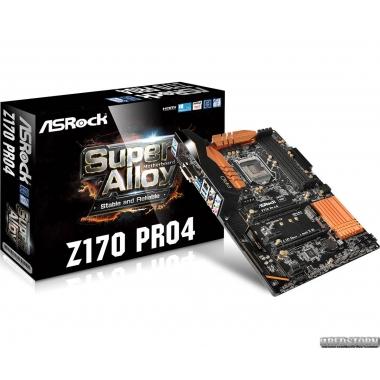 Материнская плата ASRock Z170 Pro4 (s1151, Intel Z170, PCI-Ex16)