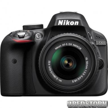 Фотоаппарат Nikon D3300 + AF-P 18-55 Non-VR Kit Black (VBA390K010)