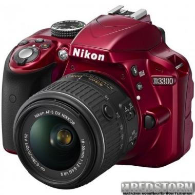 Фотоаппарат Nikon D3300 AF-P 18-55mm VR Kit Red (VBA390K008)