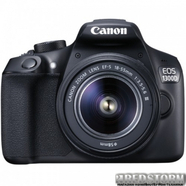 Фотоаппарат Canon EOS 1300D 18-55 III Kit (1160C020)