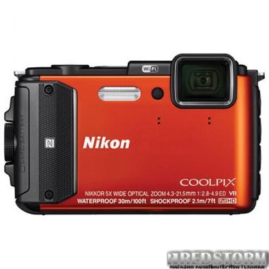 Фотоаппарат Nikon Coolpix AW130 Orange (VNA842E1)