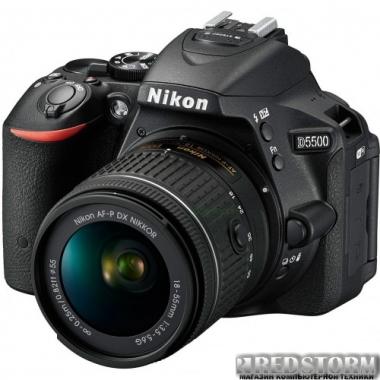 Фотоаппарат Nikon D5500 18-55 VR II Black Kit (VBA440K006)