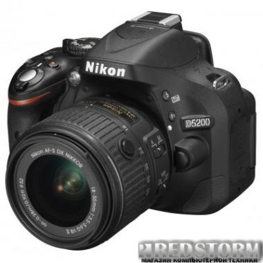 Фотоаппарат Nikon D5200 18-55mm VR II Black Kit + 55-200mm VR II (VBA350K011)
