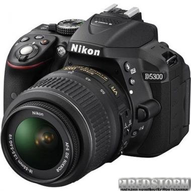 Фотоаппарат Nikon D5300 18-140mm VR Black Kit (VBA370KV02)