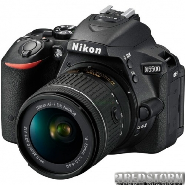 Фотоаппарат Nikon D5500 18-55mm VR Black Kit + 55-200mm VR II (VBA440K007)
