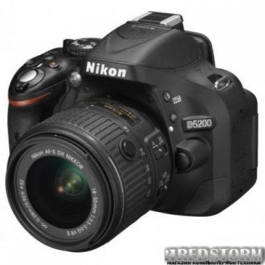 Фотоаппарат Nikon D5200 + 18-55mm II Black Kit (VBA350KV02)