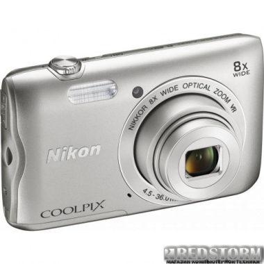 Фотоаппарат Nikon Coolpix A300 Silver (VNA960E1)