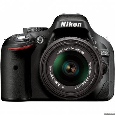 Фотоаппарат Nikon D5200 + 18-55mm VR II Black Kit (VBA350K007)