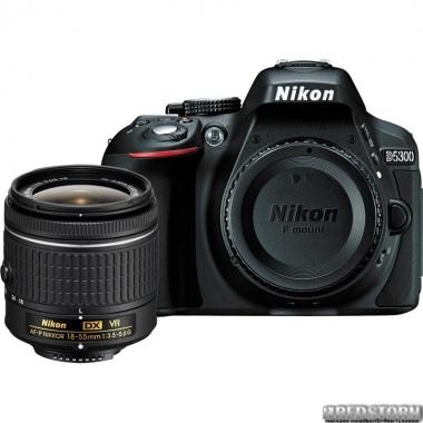 Фотоаппарат Nikon D5300 + AF-P 18-55mm Black Kit (VBA370K016)