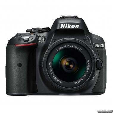 Фотоаппарат Nikon D5300 + AF-P 18-55mm VR Black Kit (VBA370K007)