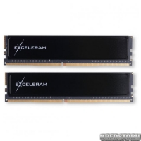 Модуль памяти для компьютера DDR4 16GB 2x8GB 2400 MHz Black Sark eXceleram (ED416247AD)
