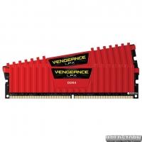 Оперативная память Corsair DDR4-2400 16384MB PC4-19200 (Kit of 2x8192) Vengeance LPX (CMK16GX4M2A2400C16R) Red