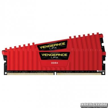 Память Оперативная память Corsair DDR4-2400 16384MB PC4-19200 (Kit of 2x8192) Vengeance LPX (CMK16GX4M2A2400C16R) Red